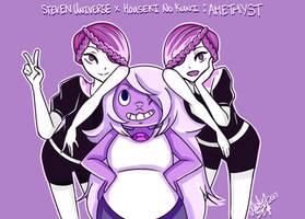 Amethyst (Steven Universe x Houseki no Kuni) by PinkSakuraFlower1