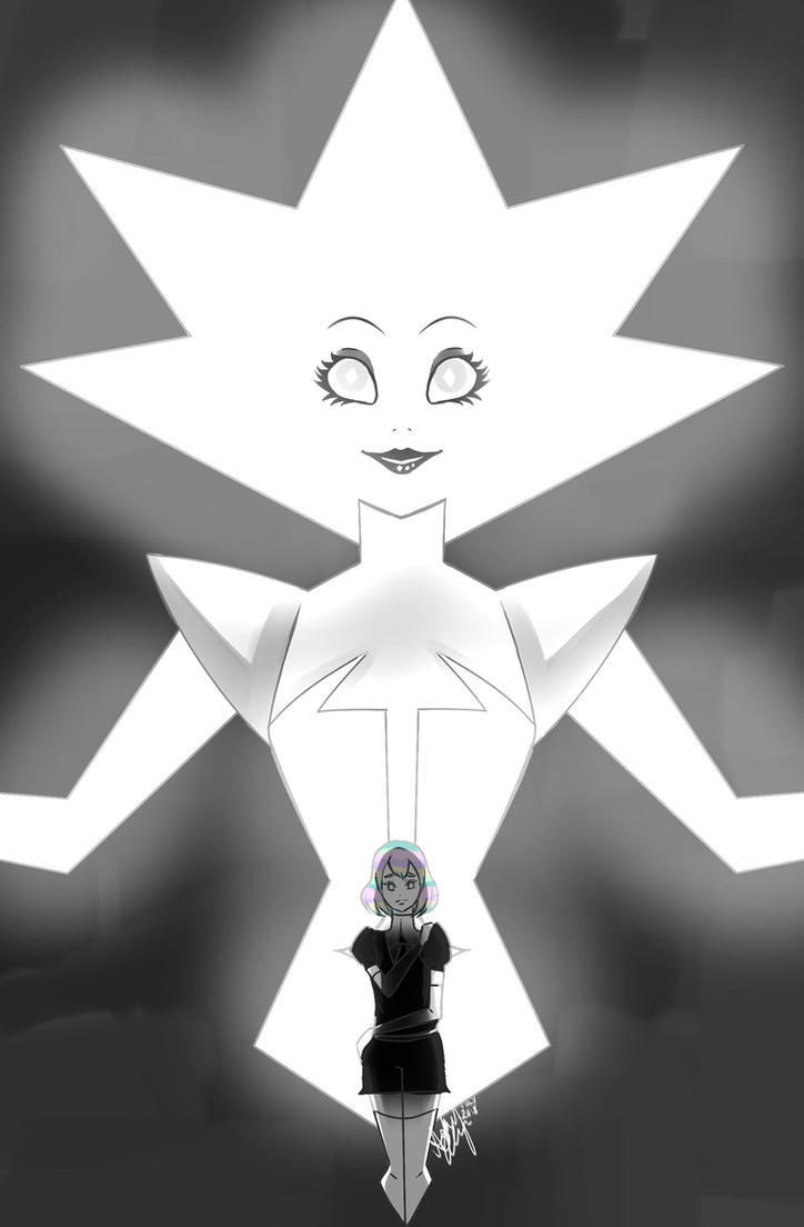 Video Link: youtu.be/2yLSkgp1cFE I am back baby!!! From the latest episode of Steven Universe, we finally get to see White Diamond! A giant, very bright, titan sized gem. Who is very Gre...