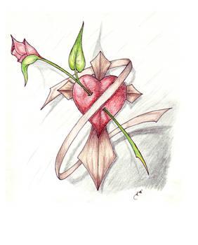 Cross and Heart
