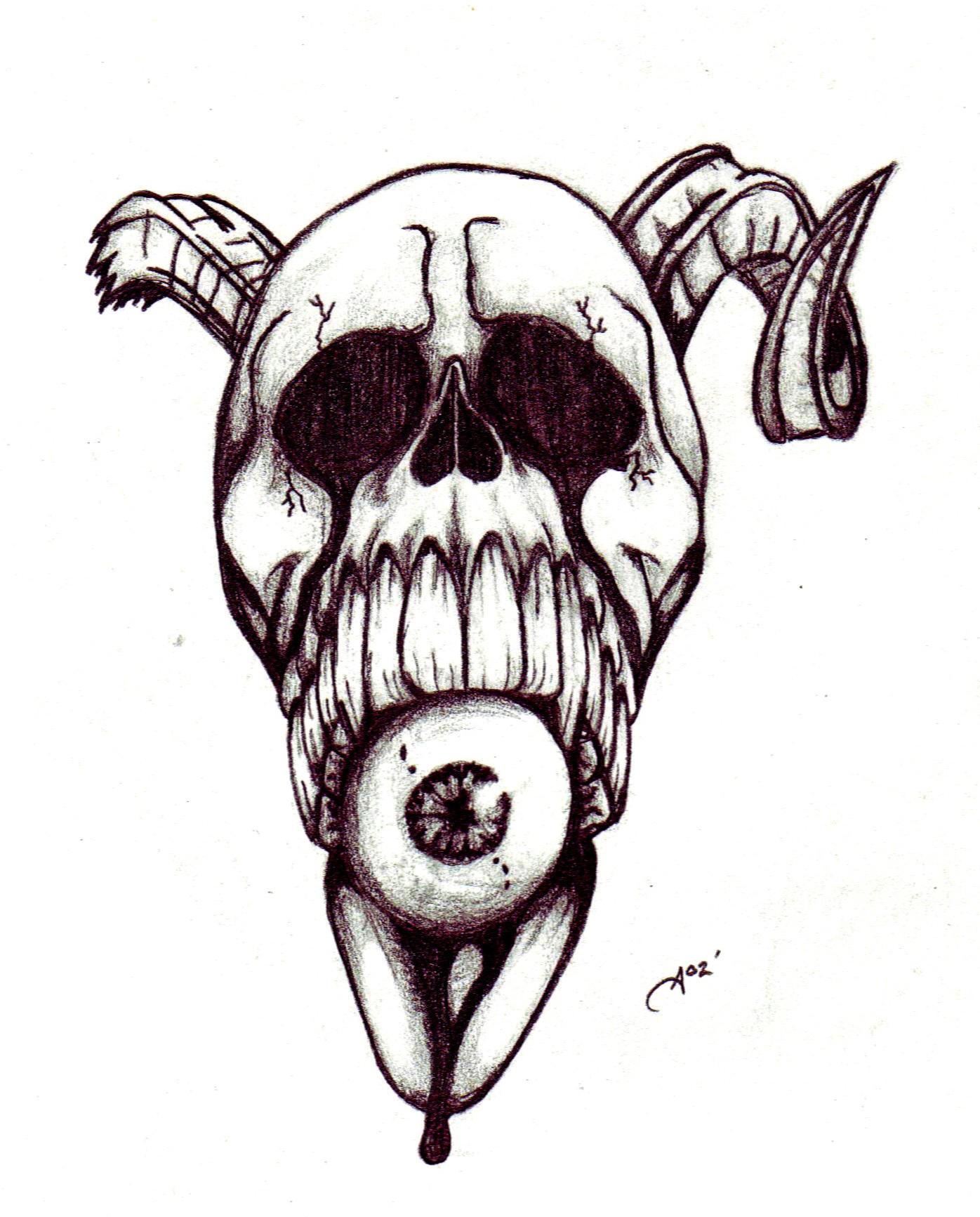 demon skull by ashes360 on deviantart. Black Bedroom Furniture Sets. Home Design Ideas