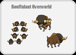 Bouffalant Overworld by kdiamo11
