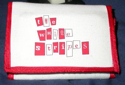 white stripes wallet I