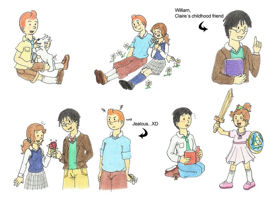 Tintin OC: Sketch 3 by Rose-anime