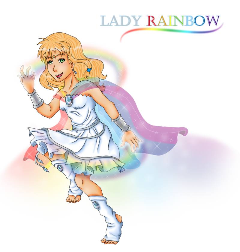 Rise of the Guardians OC: Lady Rainbow (redesign) by Rose-anime