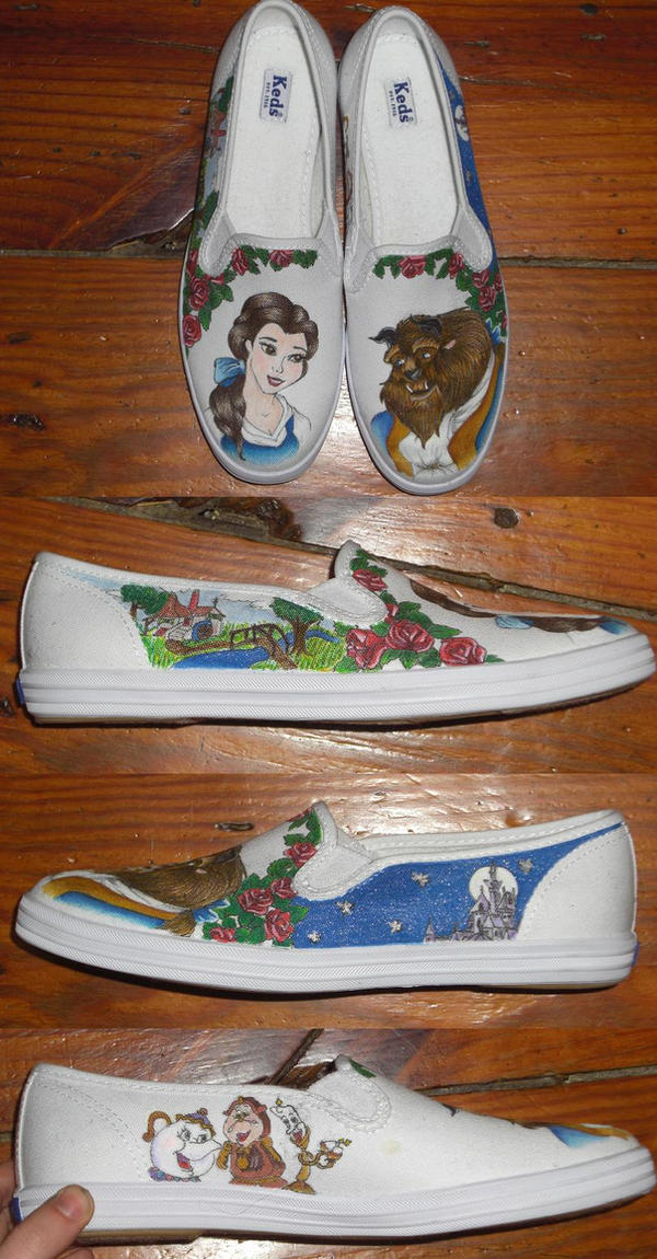 Beauty and the Beast - shoes by madeleinedemontreal