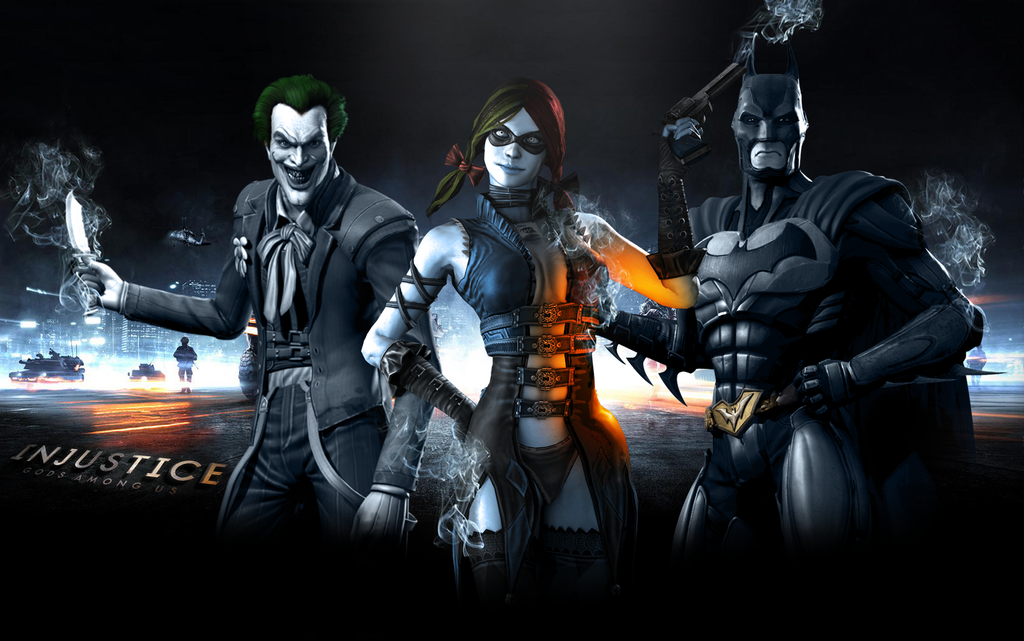 Battlefield Injustice Harley Quinn Batman Joker By Trace Tech