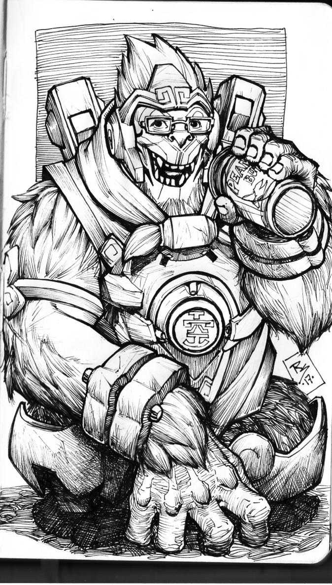 Winston Overwatch by Ruihq