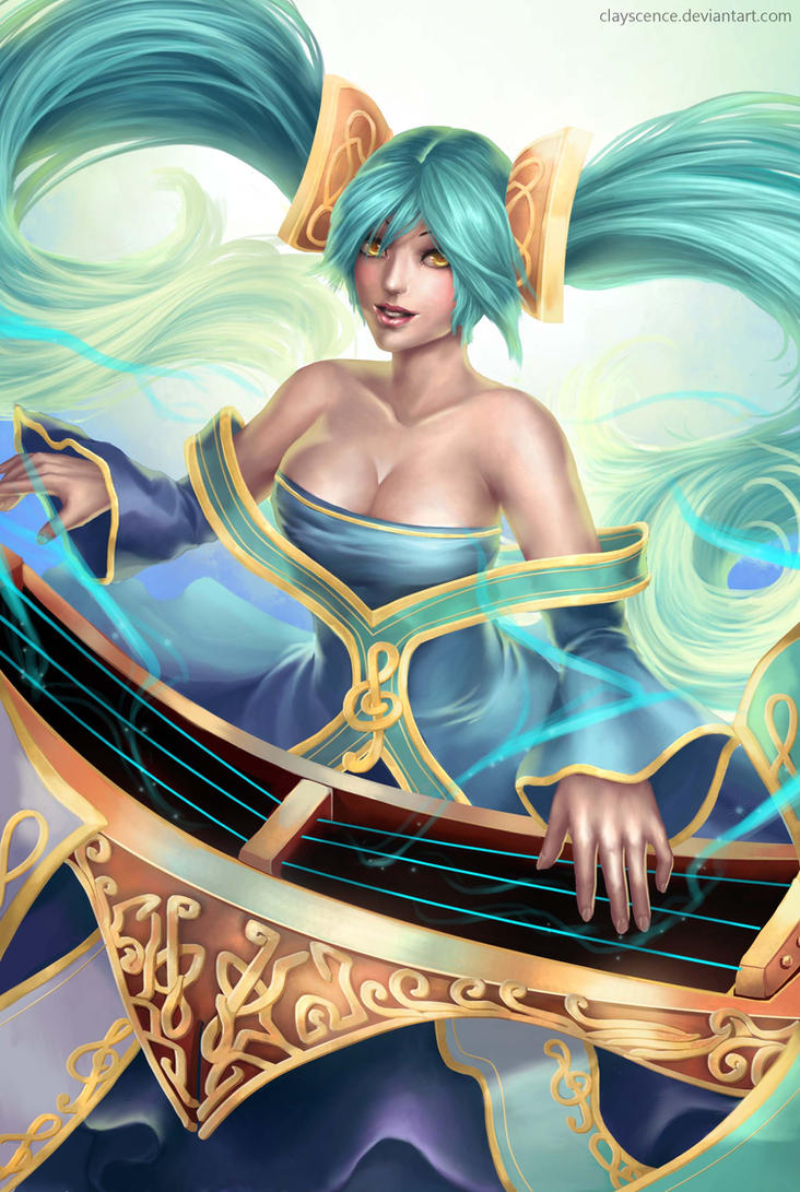 Sona (with painting process) by clayscence