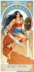 Wonder Woman Nouveau (w/video process) by clayscence