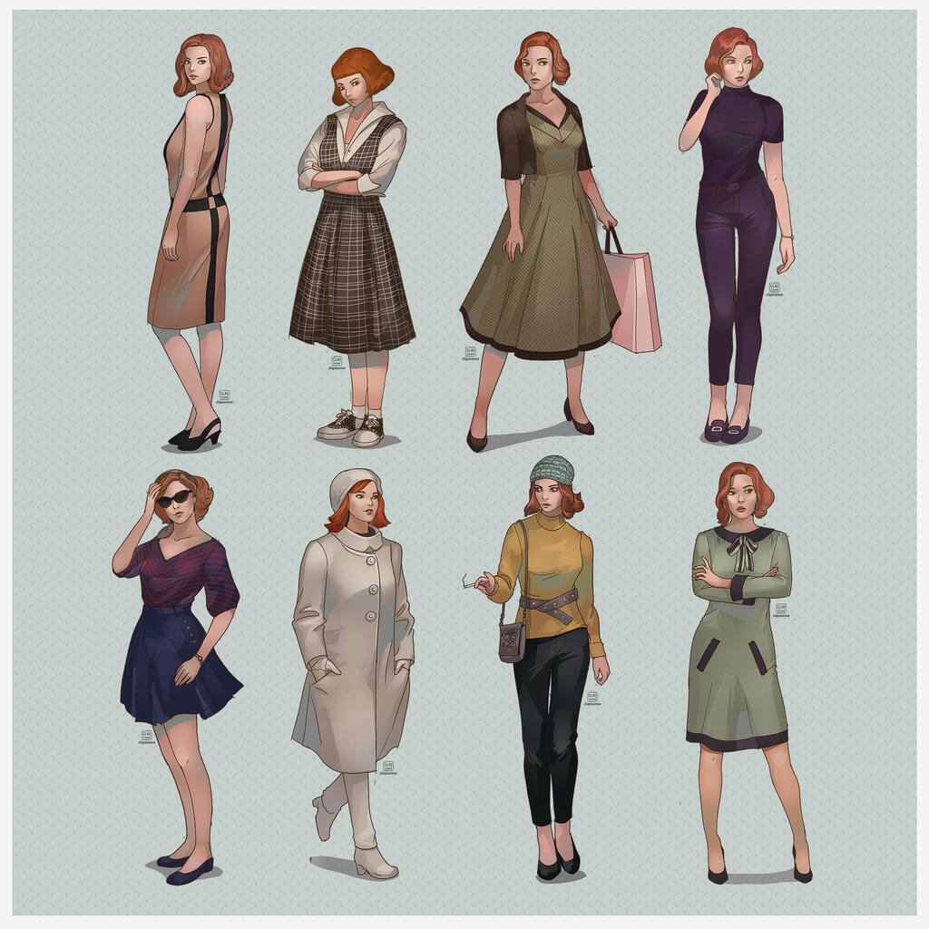 Beth Harmon outfits