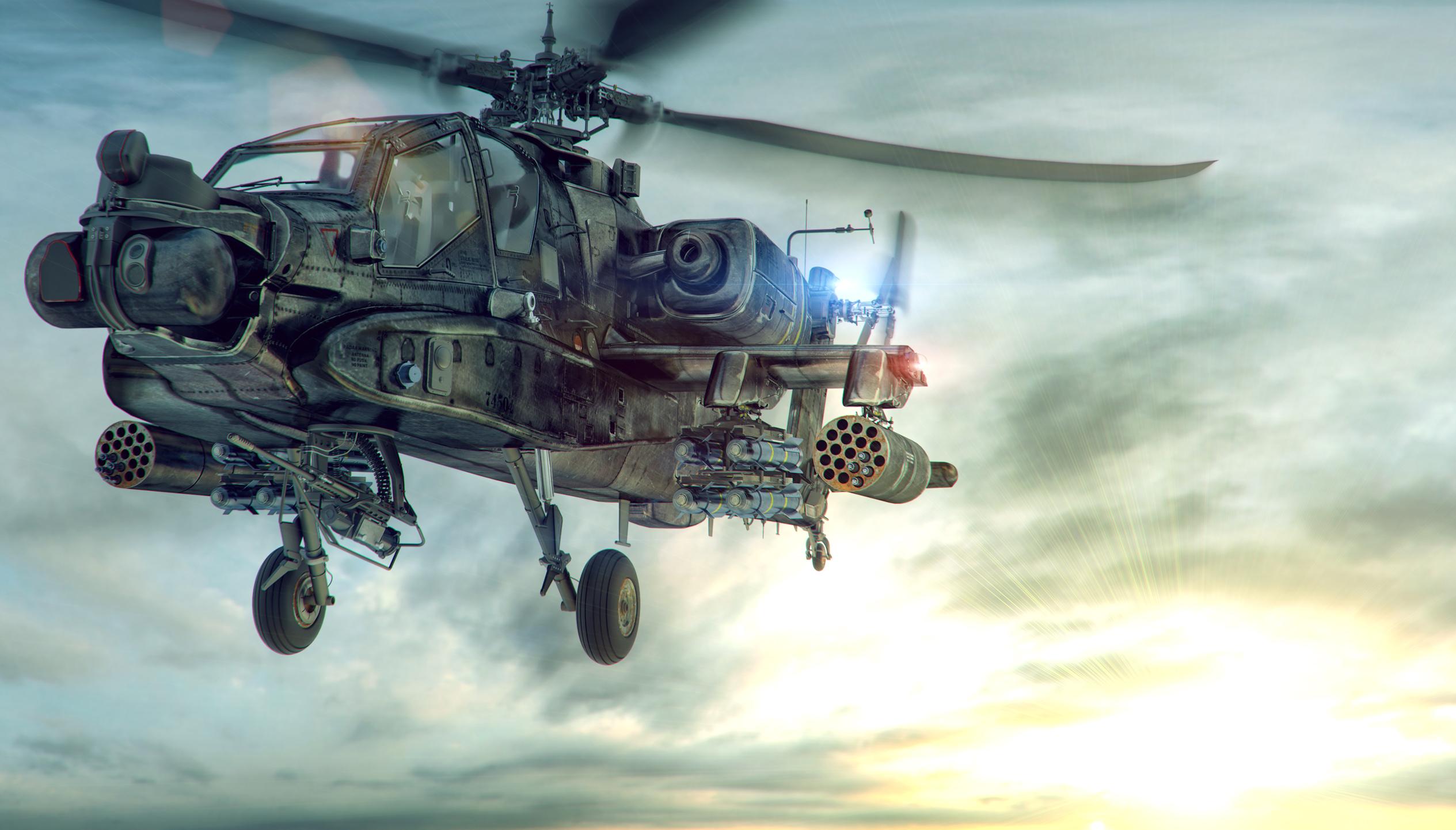AH 64 Longbow. All NURBS. Done
