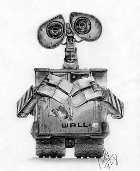 Wall-E Pencil Portrait
