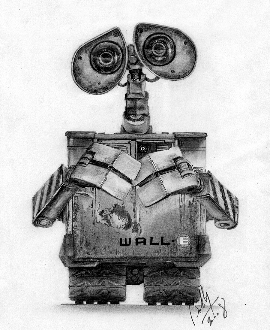 Paint For Cars >> Wall-E Pencil Portrait by Bobby-Sandhu on DeviantArt