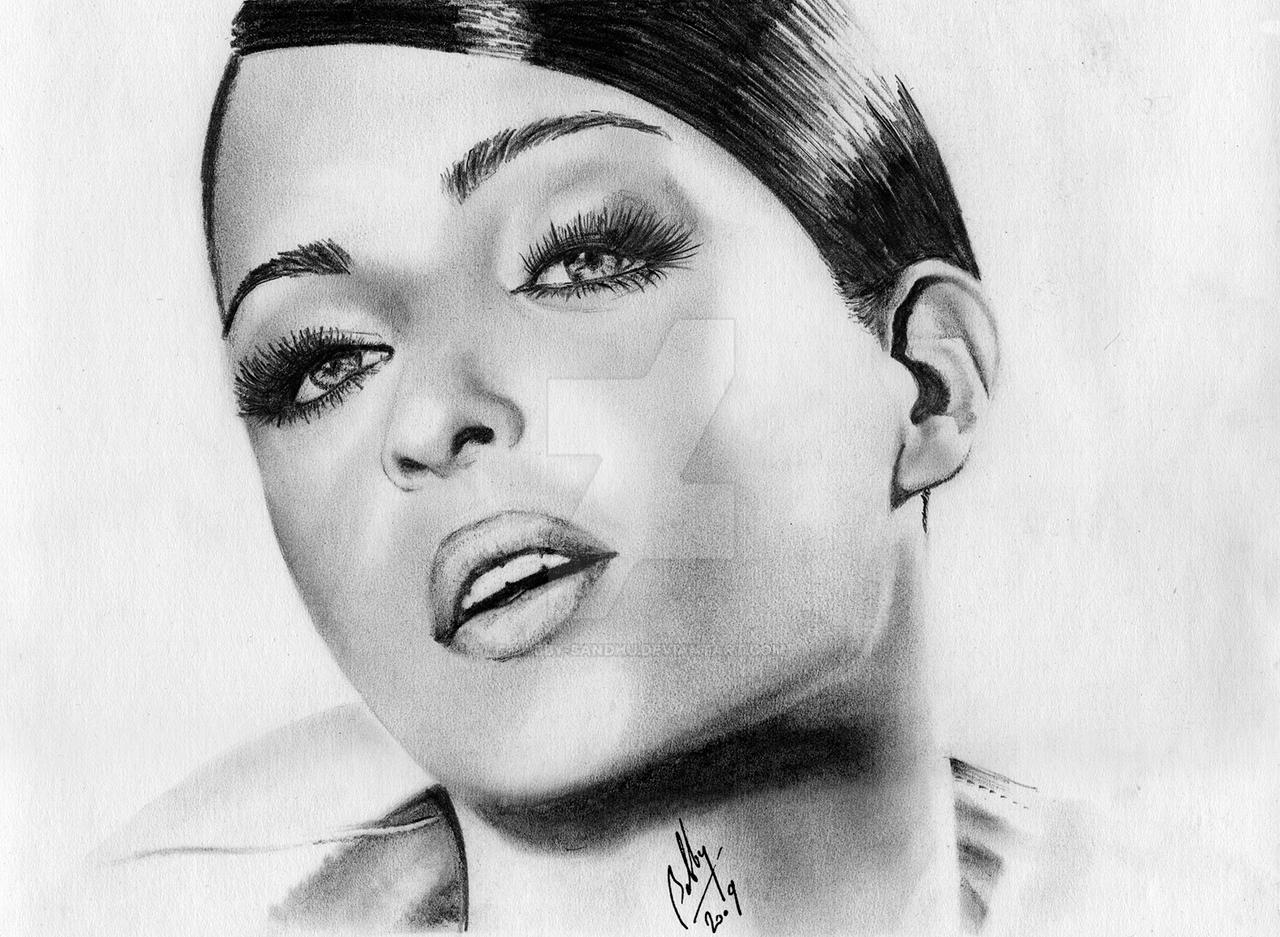 Aishwarya rai pencil portrait by bobby sandhu