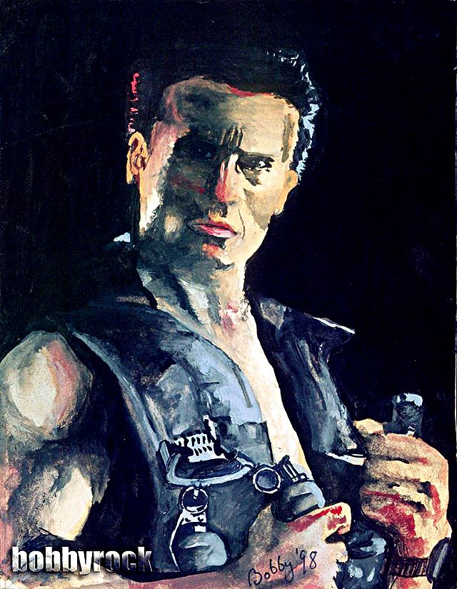 Arnold Schwarzenegger Painting by Bobby-Sandhu