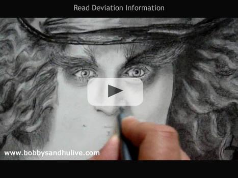 Drawing Johnny Depp - Video