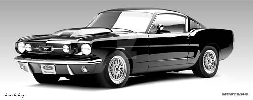Ford Mustang Vector Portrait
