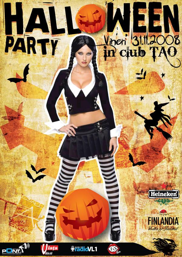 flyer ClubTAO - Halloween by semaca2005