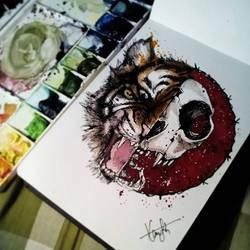 half tiger by aslah92