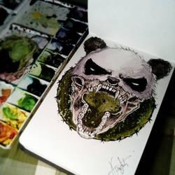 half panda
