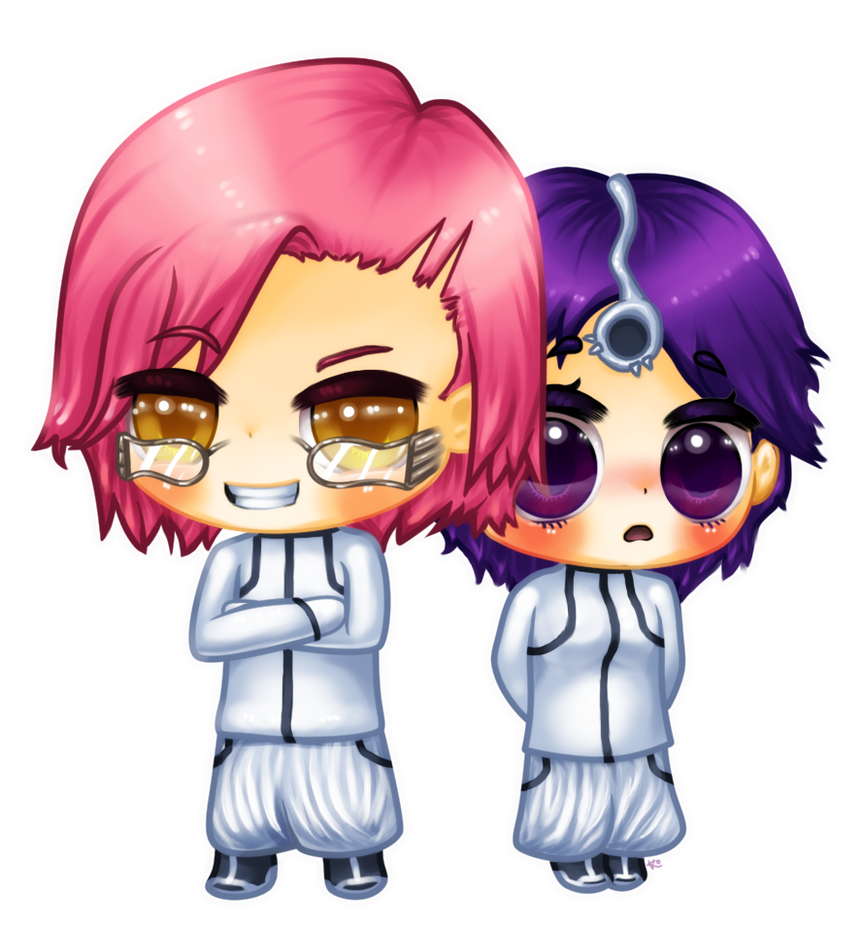 Szayel and Imelda Chibi Commission by Kattling