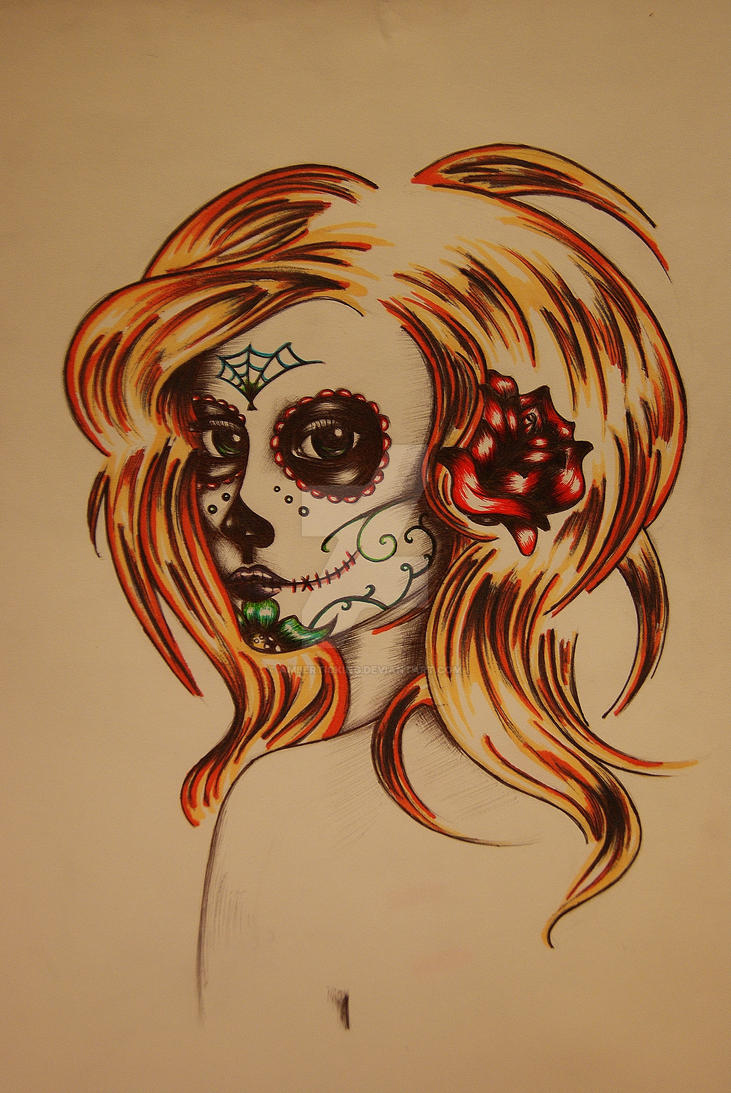Day of the dead. Tattoo design. by AmberTicking on DeviantArt