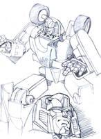 G1 Mirage pencils by M3Gr1ml0ck