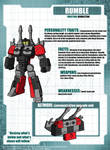 The Transformers - SoD - Rumble Tech Specs
