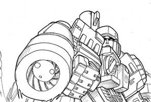 Seeds of Deception - A Megatron and his cannon by M3Gr1ml0ck