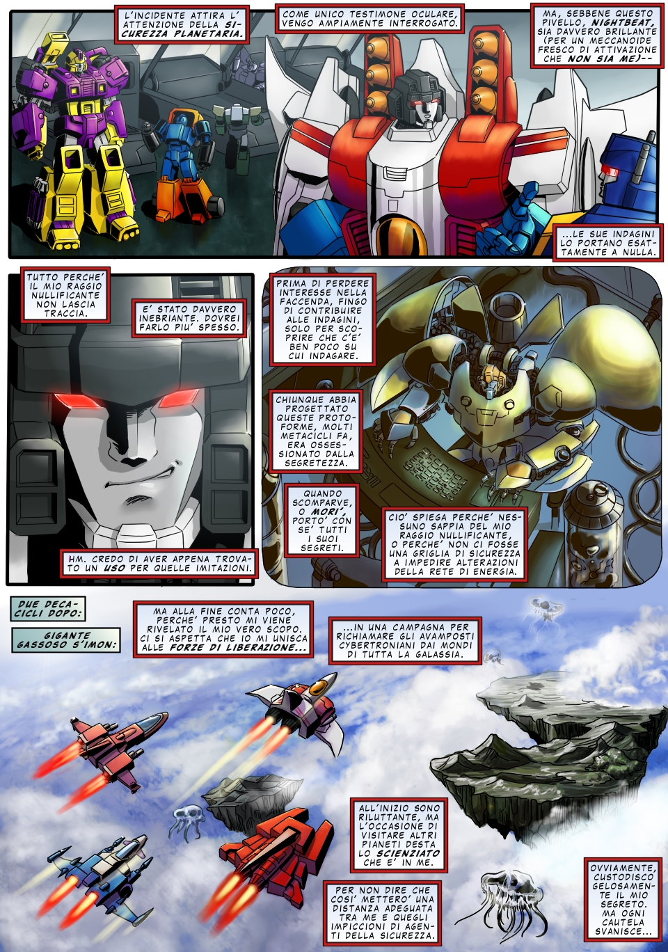 Starscream page 4 ITA by M3Gr1ml0ck