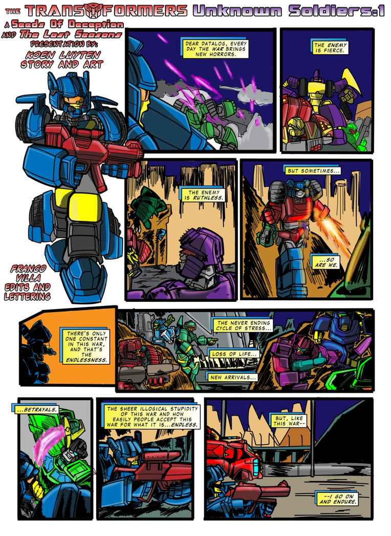 Transformers - Unknown Soldiers 1 by M3Gr1ml0ck