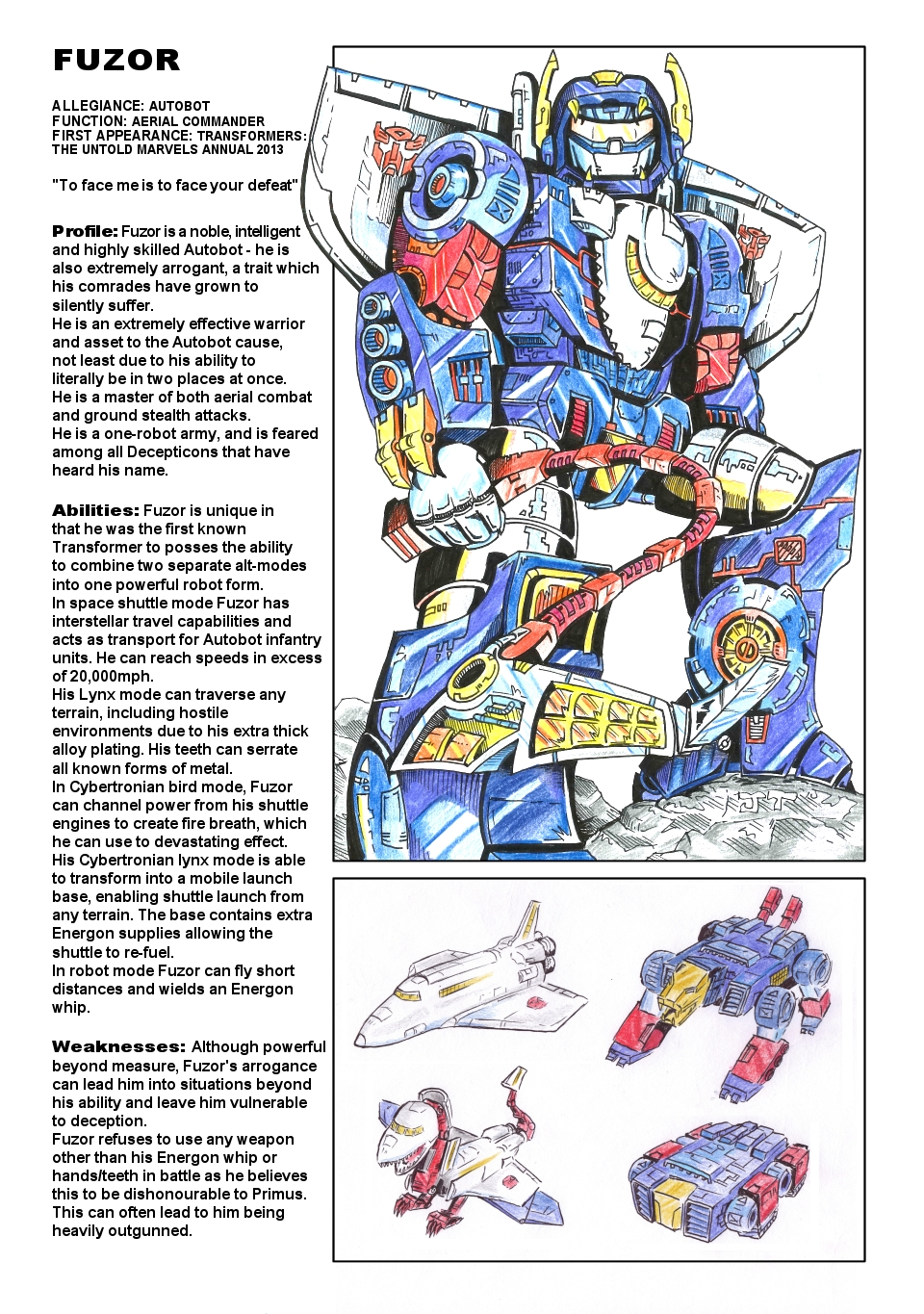 Uk G1 Untold Marvels Annual 2013 profile - Fuzor
