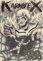 Karnifex - Voodoo - copertina vintage by M3Gr1ml0ck