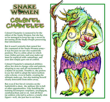 Princess of Power - Snake Women: Colonel Chamelee by M3Gr1ml0ck