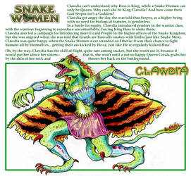 Princess of Power - Snake Women: Clawdia by M3Gr1ml0ck
