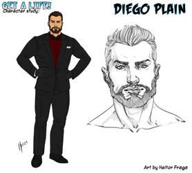 Studio per Diego Plain 2 di H. Fraga