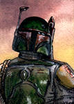 Boba Fett Sketch Card ESB