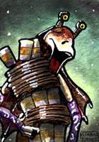 Jar Jar Binks sketch card by geralddedios