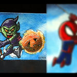 Spidey vs Green Goblin Animated gif by geralddedios
