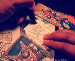Transformers Sketch Card Preview
