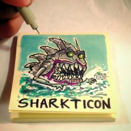 SHARKTICON by geralddedios
