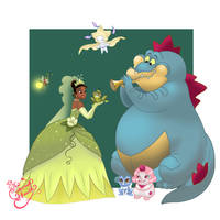 Tiana Pokemon trainer by TheCrownedHeart