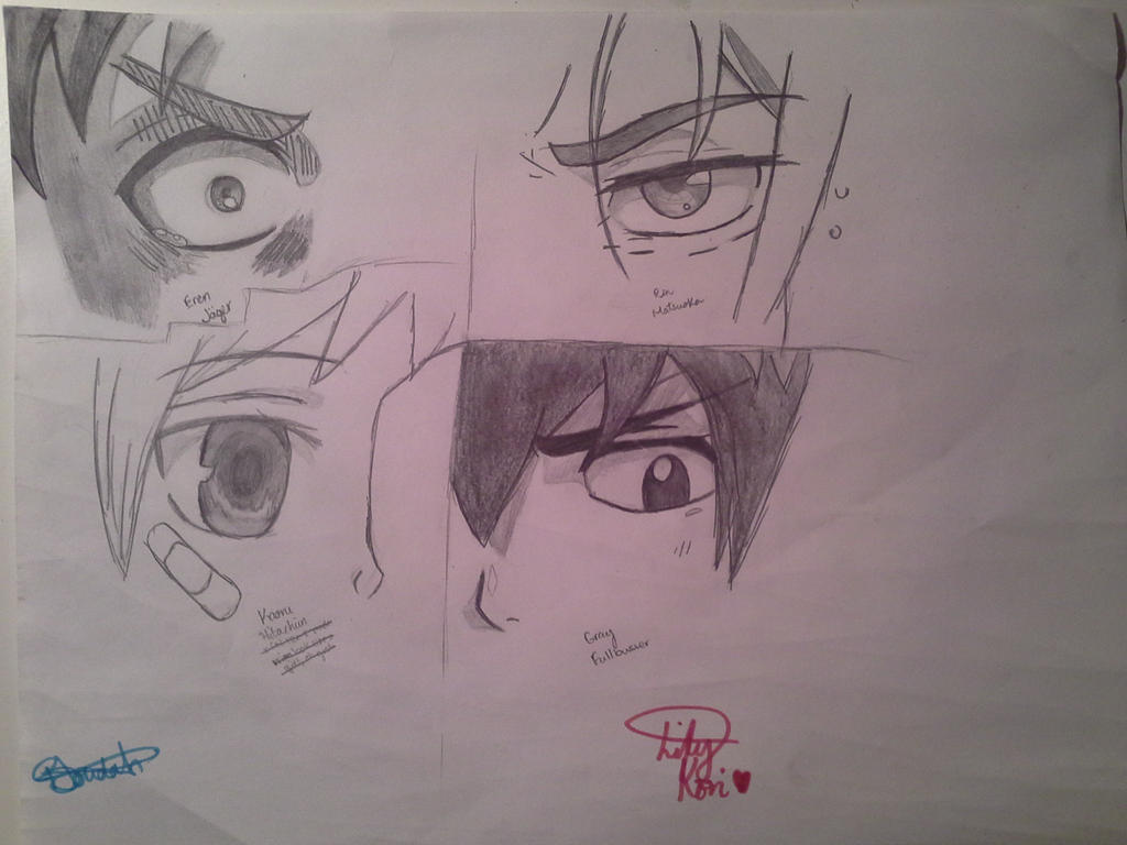 Anime Manga Characters Eyes 4 Male By BJoudah