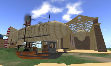 Steampunk Armed Airship 1775 by FannyShandy