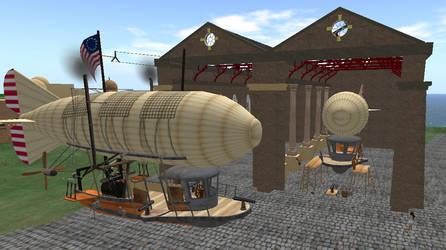 Steampunk Airship with Guns by FannyShandy