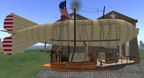 Steam Driven Airship by FannyShandy
