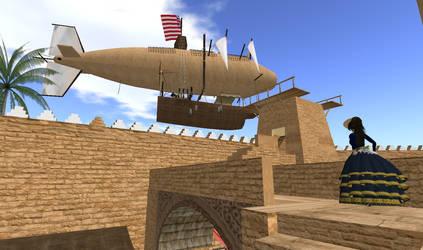 Steampunk Airship Mooring by FannyShandy