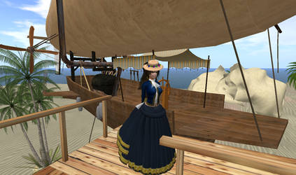 Steampunk Airship Moored at Moresh by FannyShandy