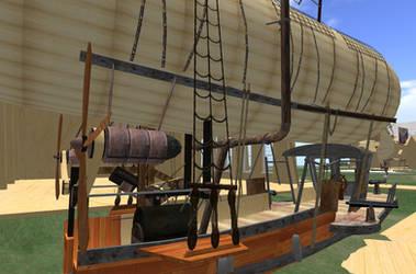 Steampunk Airship Steam Engine by FannyShandy