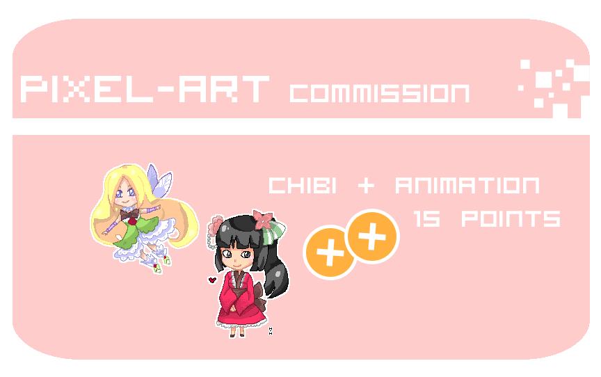 Commission Pixel-art by hiromihana